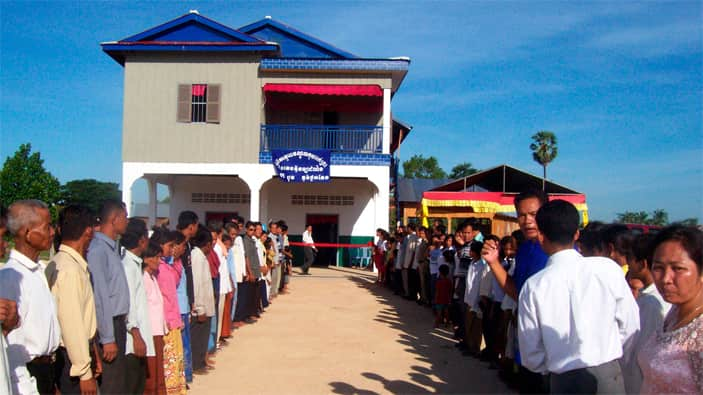 Christian nonprofit organization builds church in Cambodia